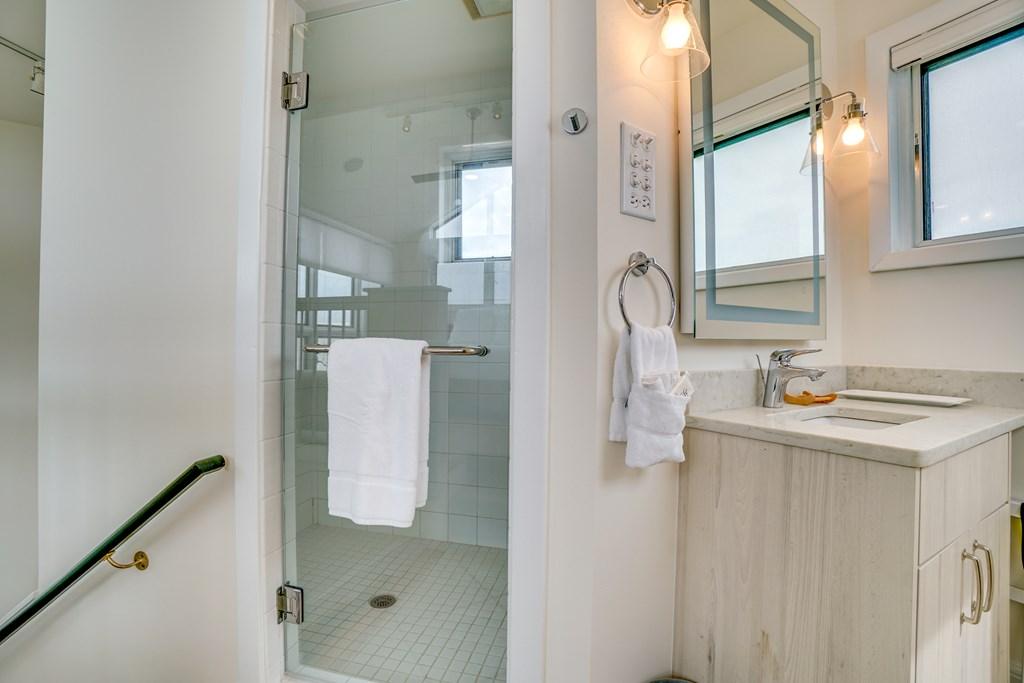 Loft bedroom ensuite bathroom