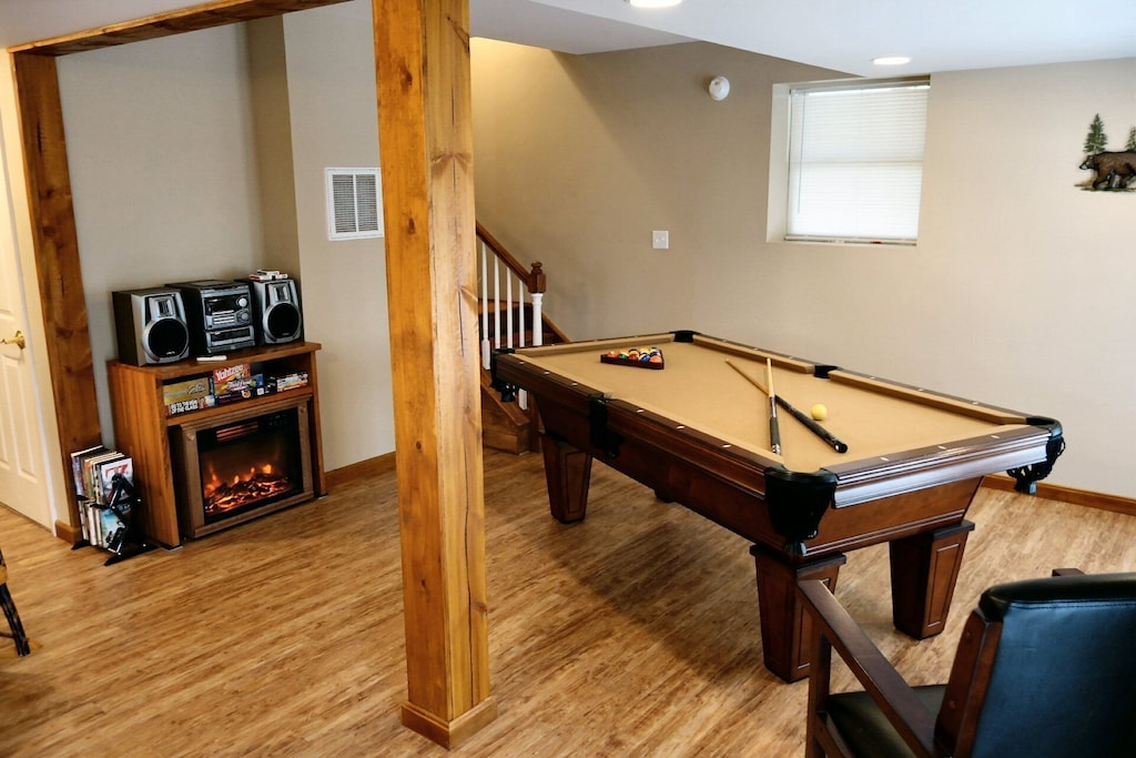 Another view of game room and pool table