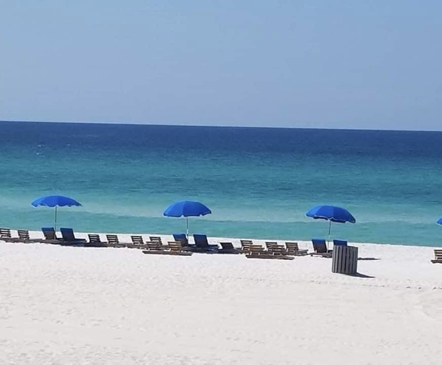 Beach rental service is available