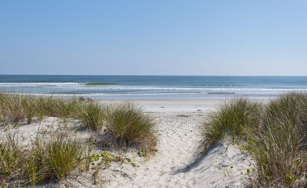 The beautiful beach is just a 5 minute drive from True Blue Plantation