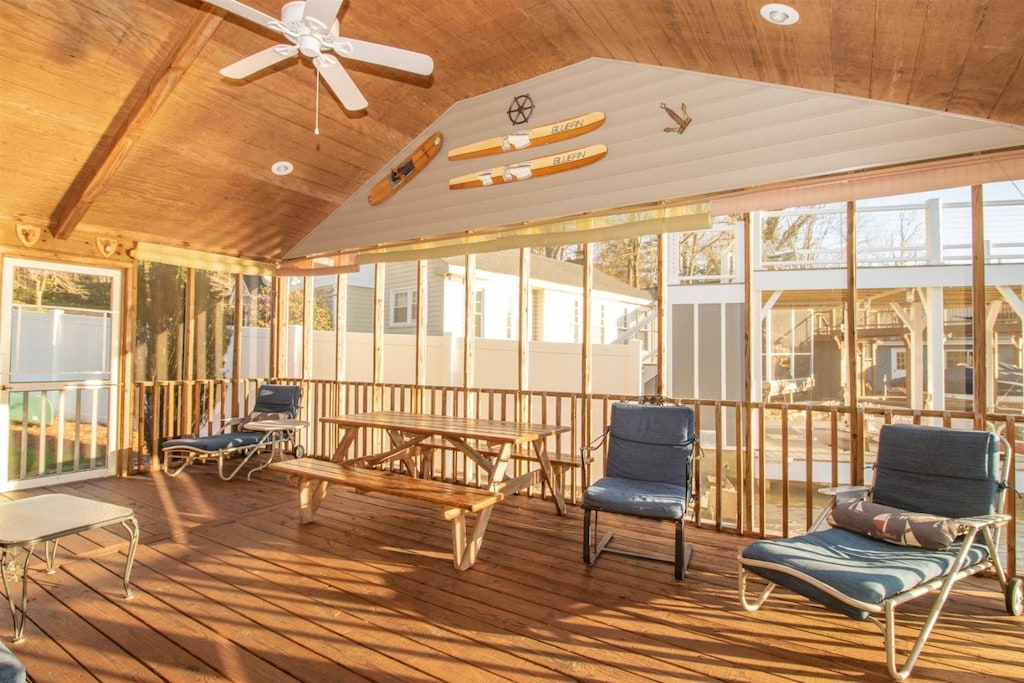 Additional view of screened porch