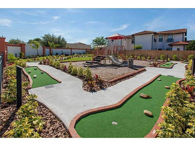 Mini golf in the gated resort community