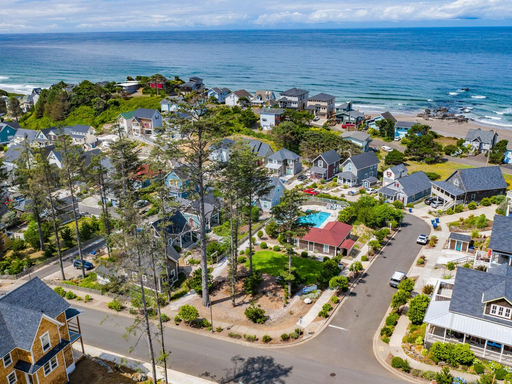 The charming Olivia Beach community. View of our street.