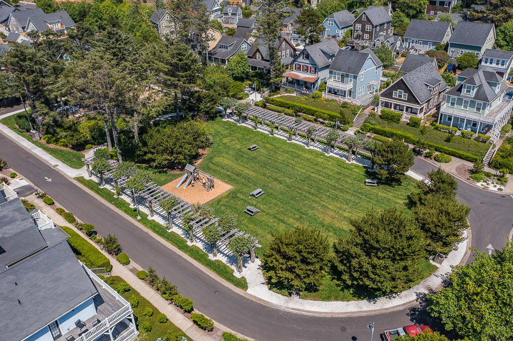 One-block walk from Olivia Beach Park, a delightful place to spend time with family on the green, the play structure, swings, volleyball court, or at the fire-pit.