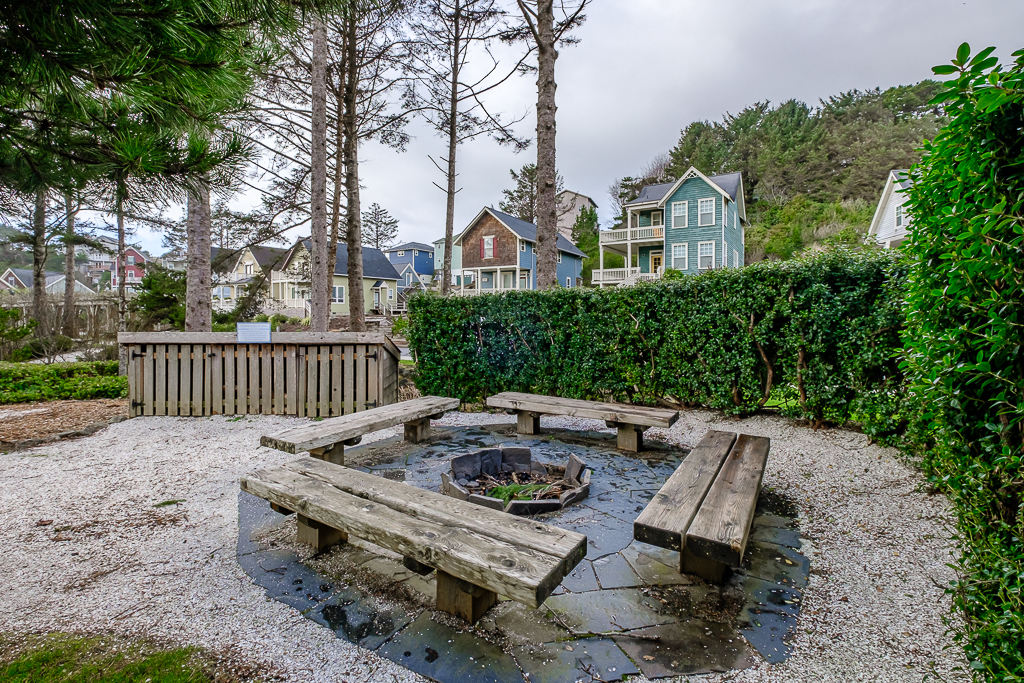 Olivia Beach Community Firepit is directly across the street.