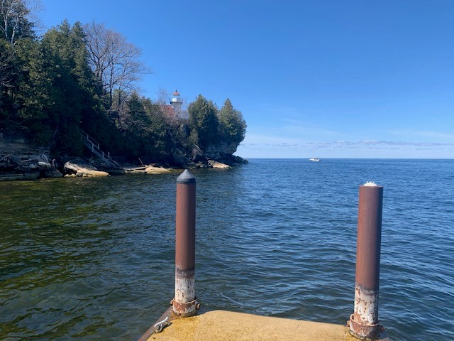 View to the west overlooking the Lighthouse!! From our concrete pier.