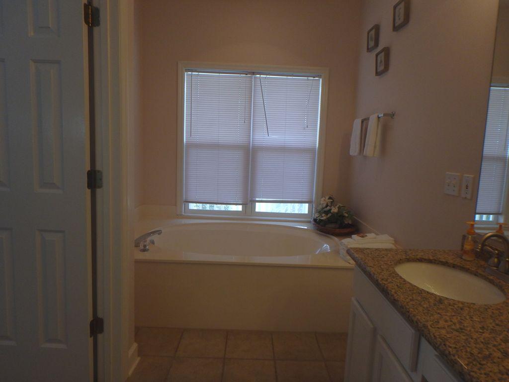 Over-sized soaking tub
