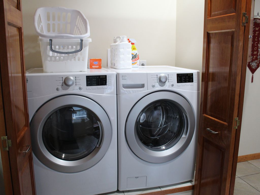 Main floor laundry area (one of two laundry facilities in the home)