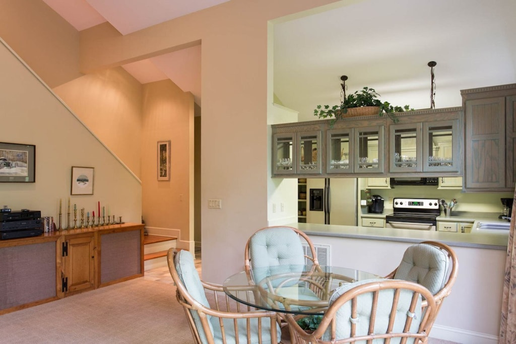 Head up the stairs to the second level for two additional bedrooms and a full bath.
