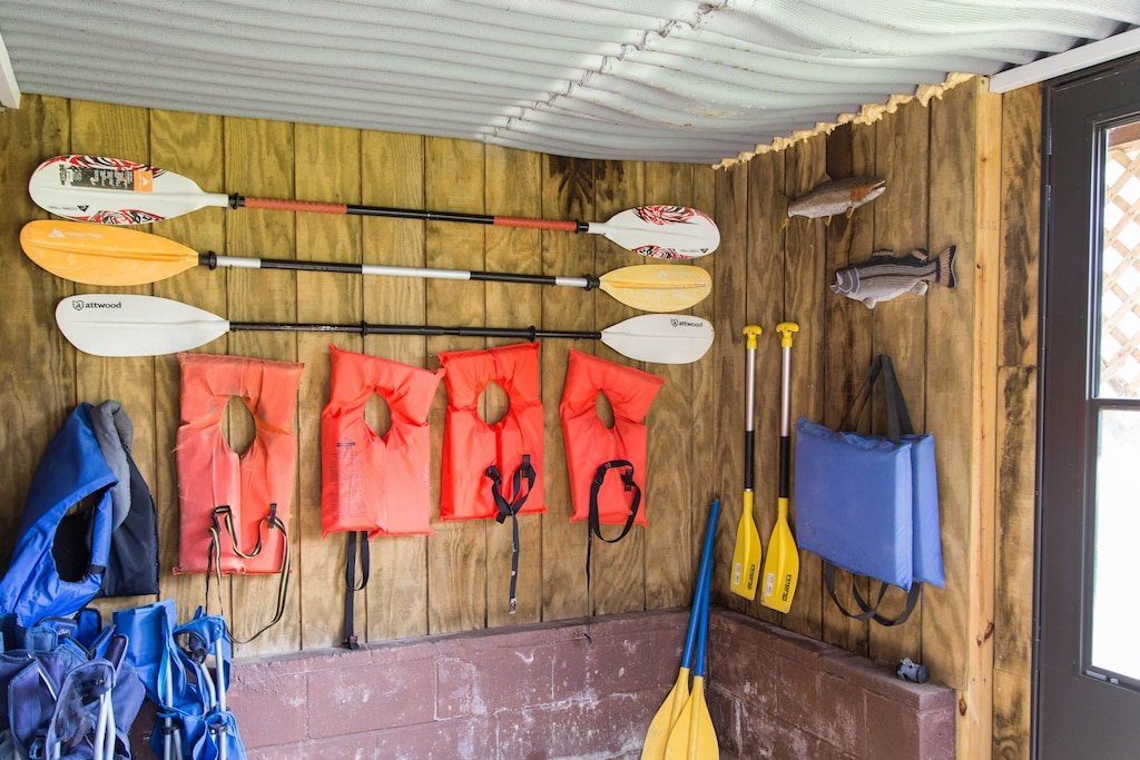 Stocked with everything you need to canoe