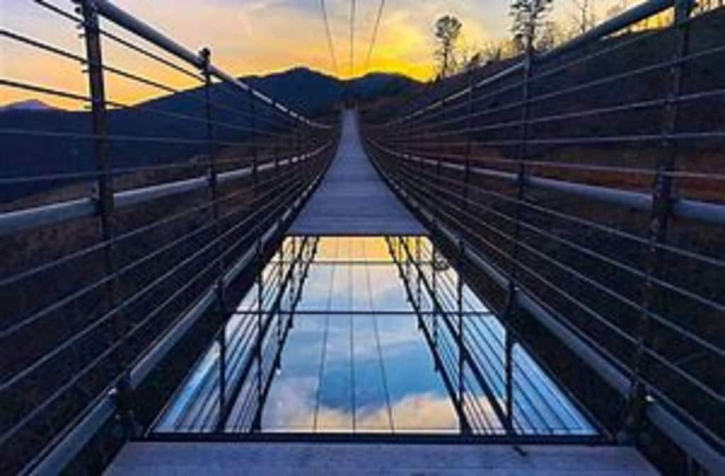 The new Skywalk in Gatlinburg.