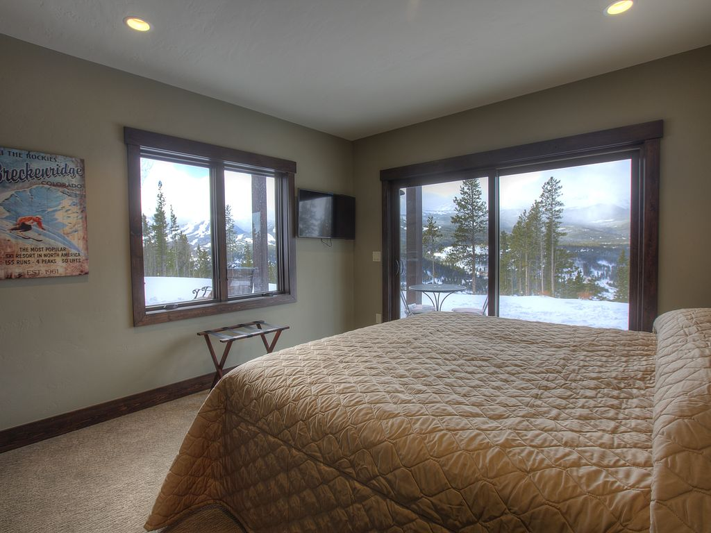 Master Bedroom #8 - Master bedroom #8, king bed, private bath, private patio.  Sunset mountain views, Hi-Def 4 k Tv, large closet.