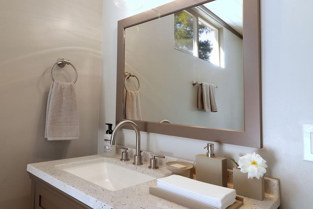 Pool bath vanity.