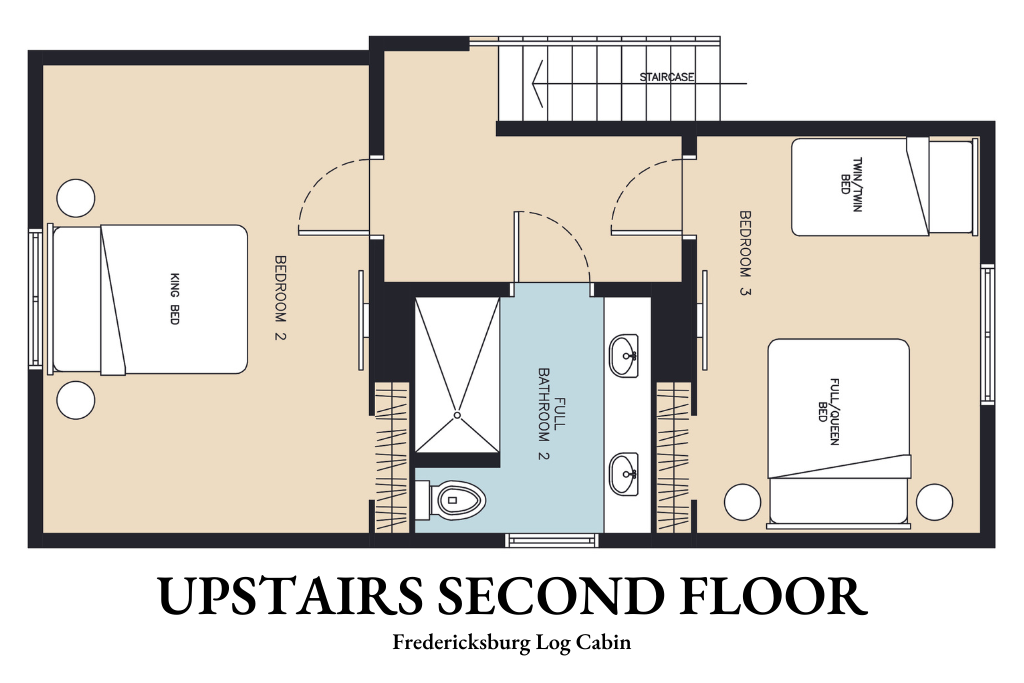 Upstairs Second Floor - Floor Plan