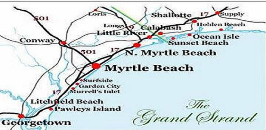 Map of the Grand Strand