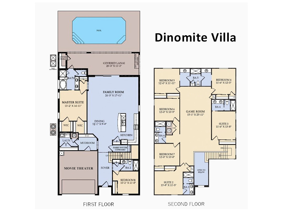 Floor Plan (Following bedrooms & bathrooms are labeled per this plan)