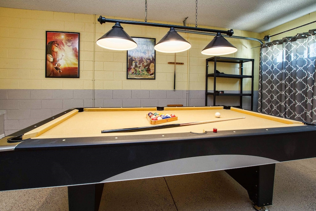 Proper light for a game of pool.