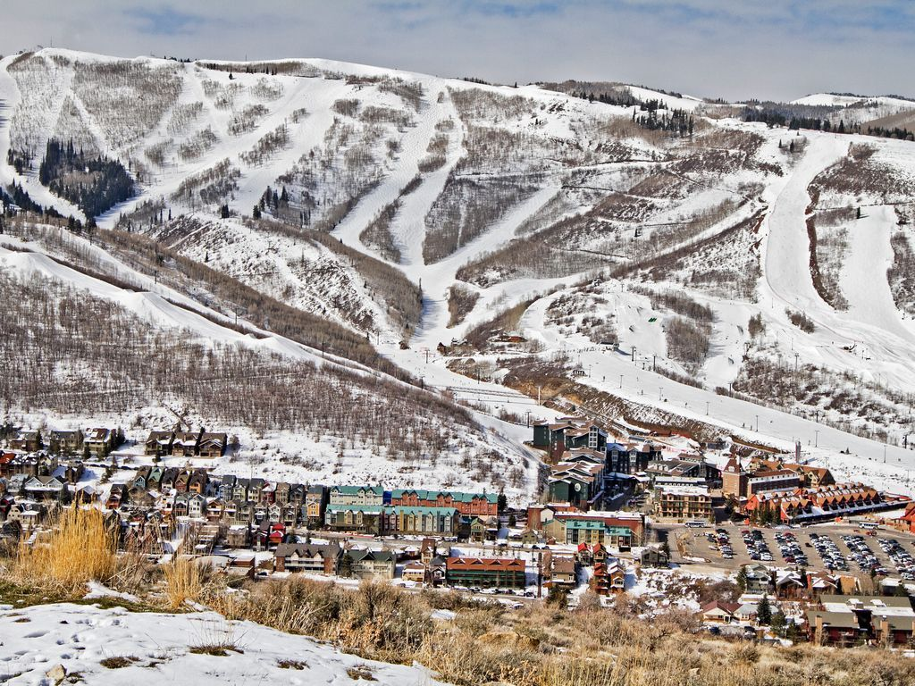 Aerial View of Park City Mountain Resort Ski Runs