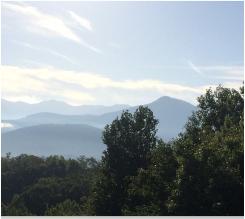 Beautiful smoky view from the deck.