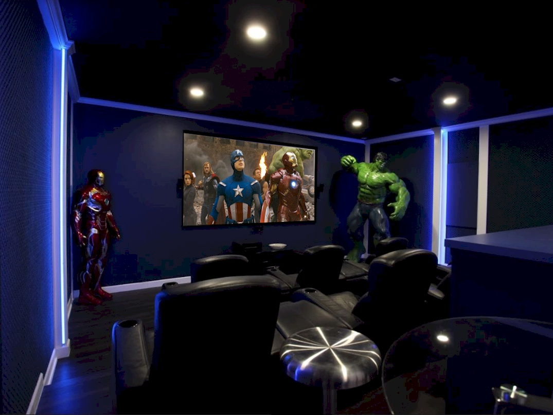 "Avengers Themed Movie Theater-120"" Screen-Bose Surround Sound"
