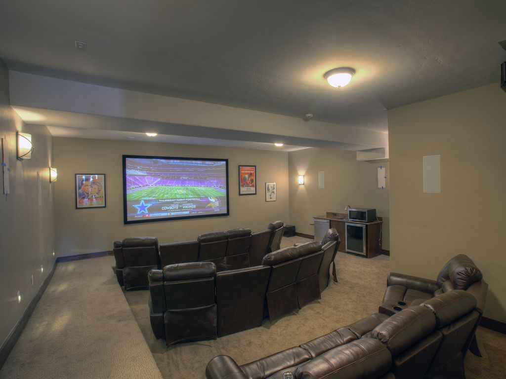 Media Room - Media room with a 12 foot IMAX style screen