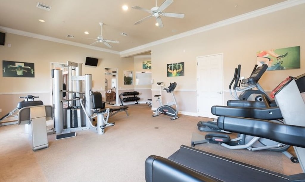 Fitness room in the clubhouse - free to use