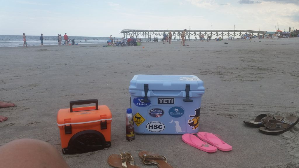 Relaxation- flip flops and coolers :)