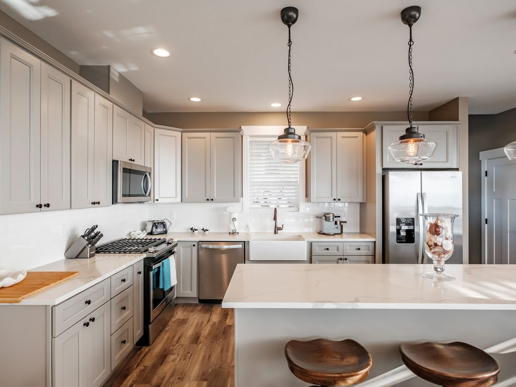 Large and functional kitchen makes hosting your beach get away a dream.
