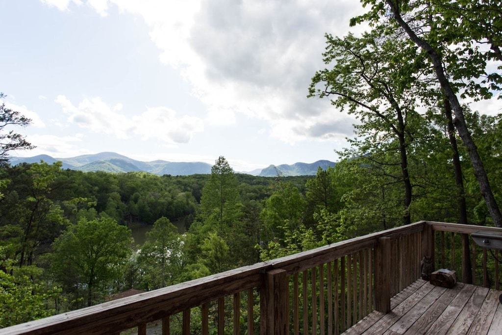 Lovely views from the deck