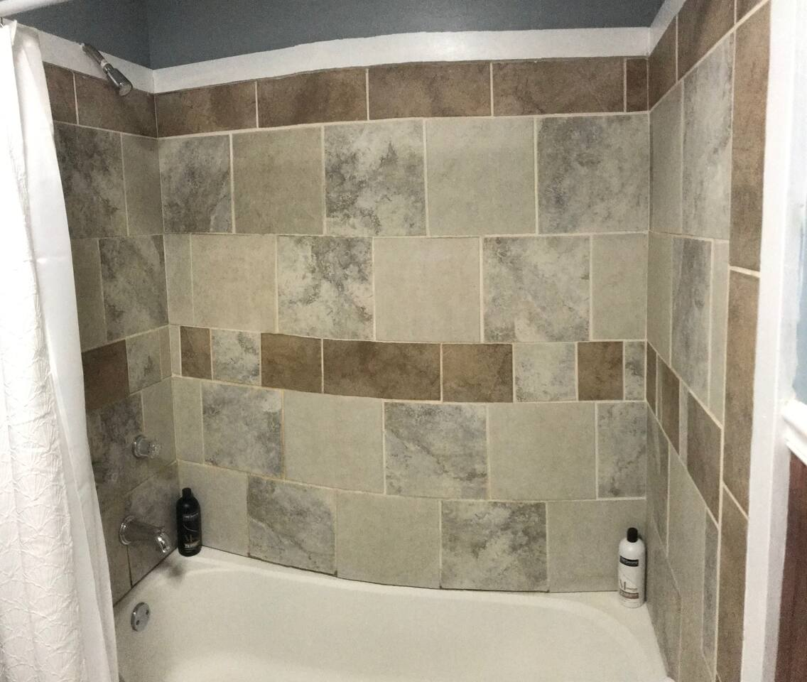 Bath with shower