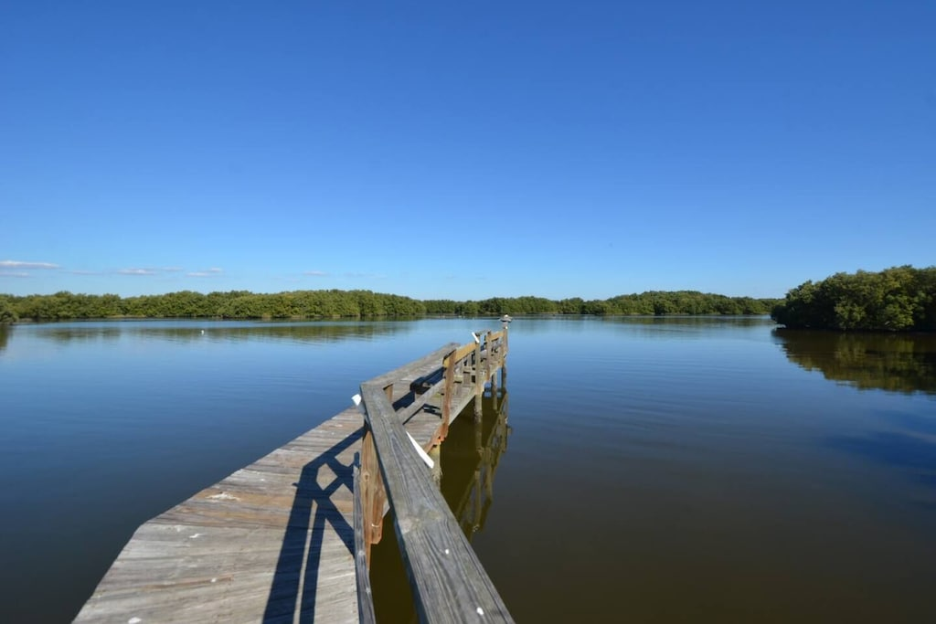 End of walkway dock for fishing or viewing amazing wildlife