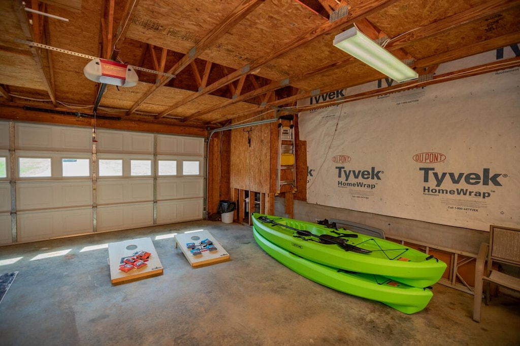 Corn hole and 2 kayaks with life jackets for your use