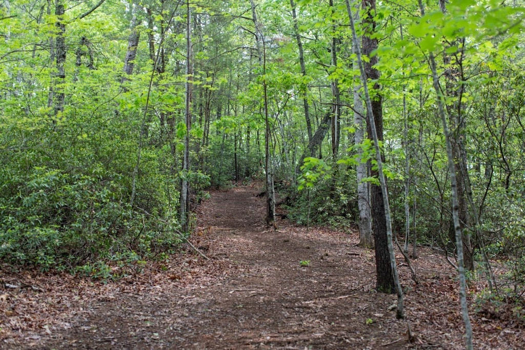 You have access to hiking trails.