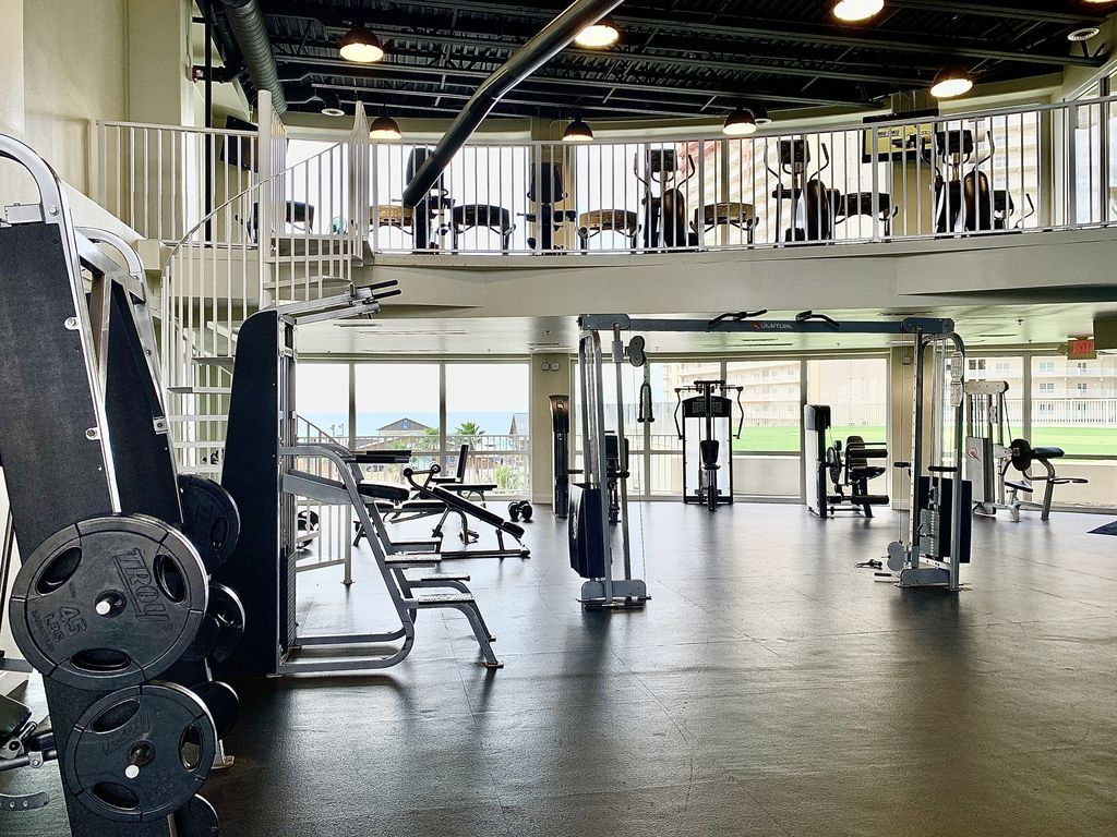 LTW 2 level fitness center offers cardio equipment and resistance training area
