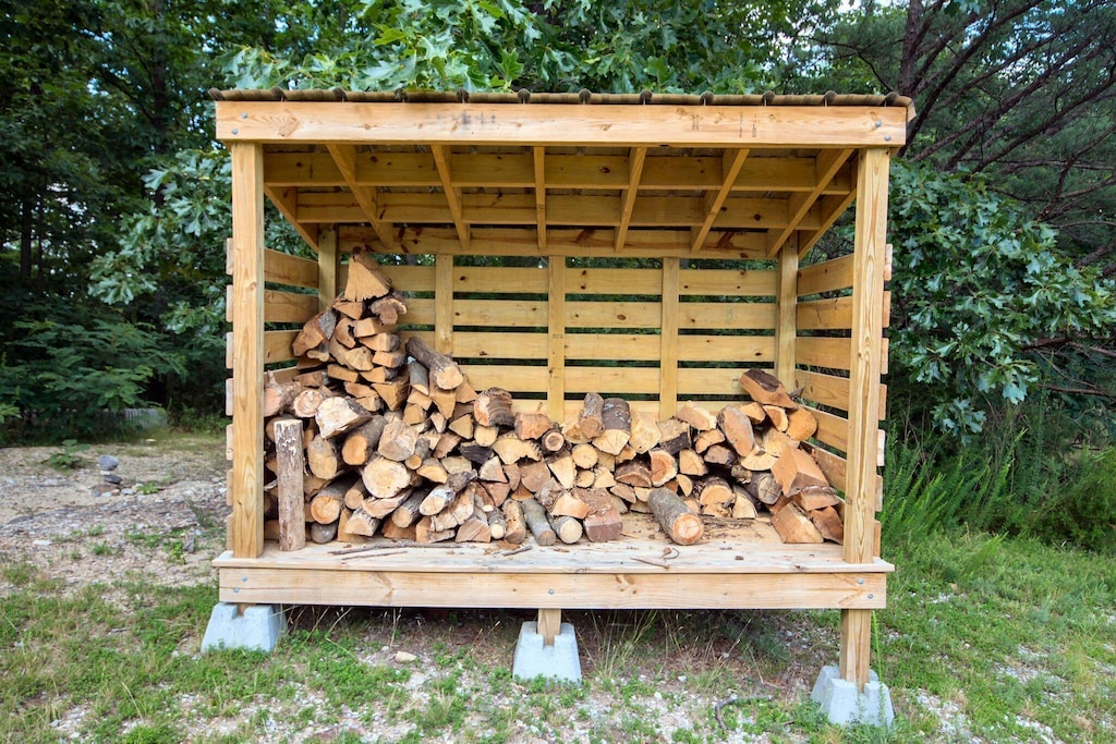 Unlimited dried/stacked firewood nearby (firewood fee is $10/night, added to every booking)