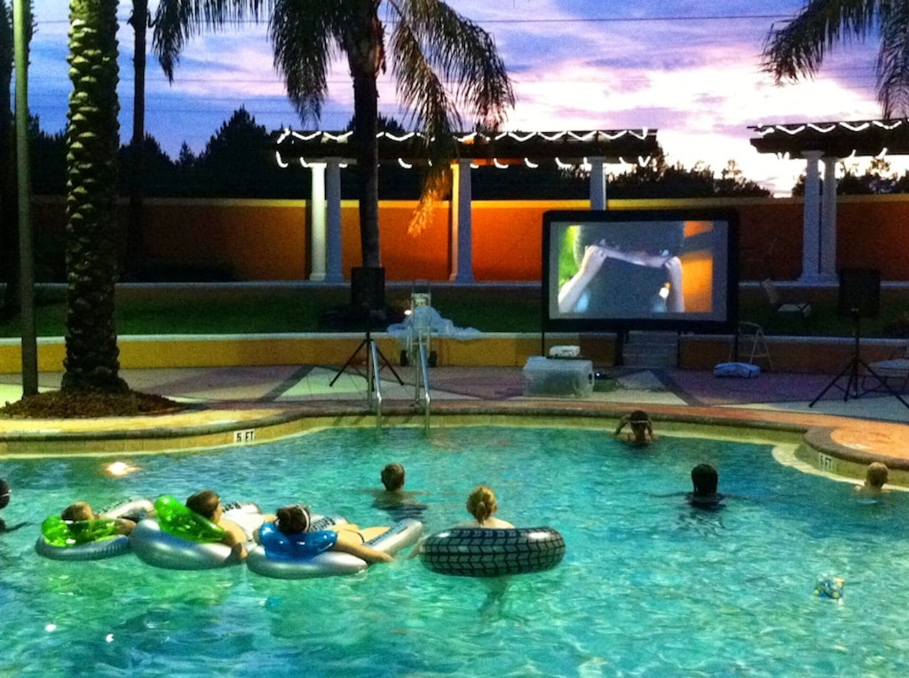 Enjoy the huge resort pool. There are movies at the clubhouse too.