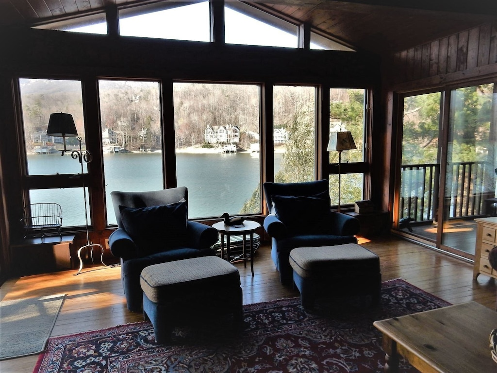 Living room with view of the lake