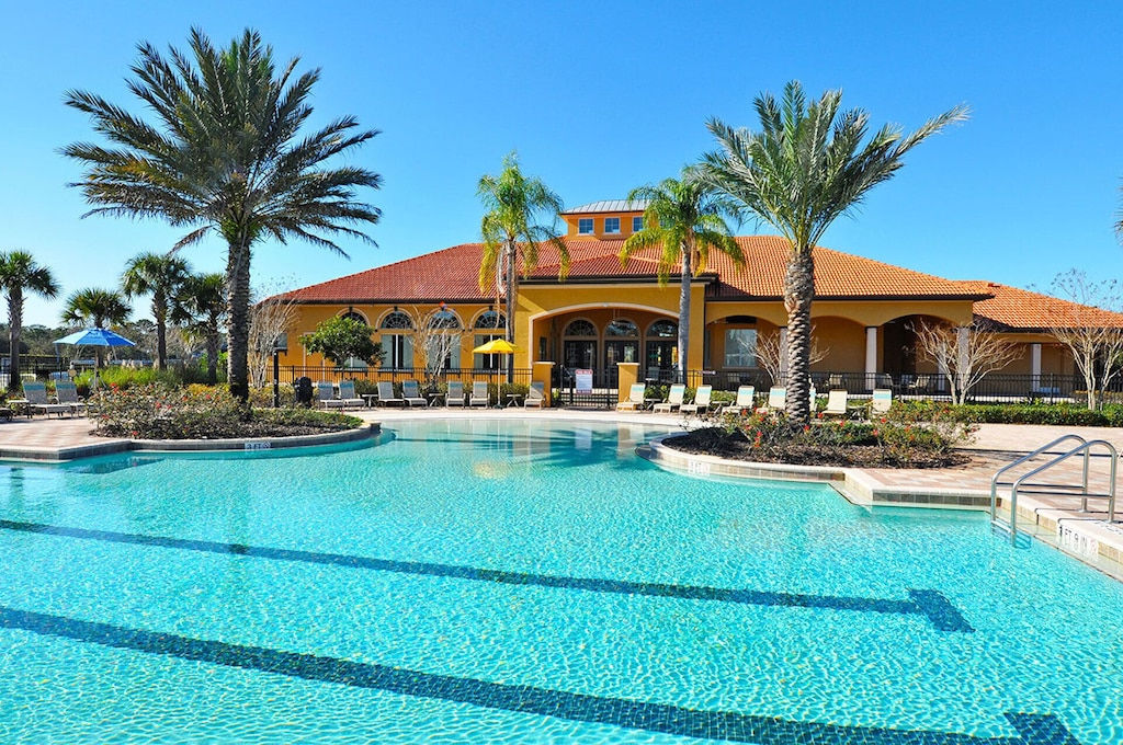 Huge resort pool at the clubhouse