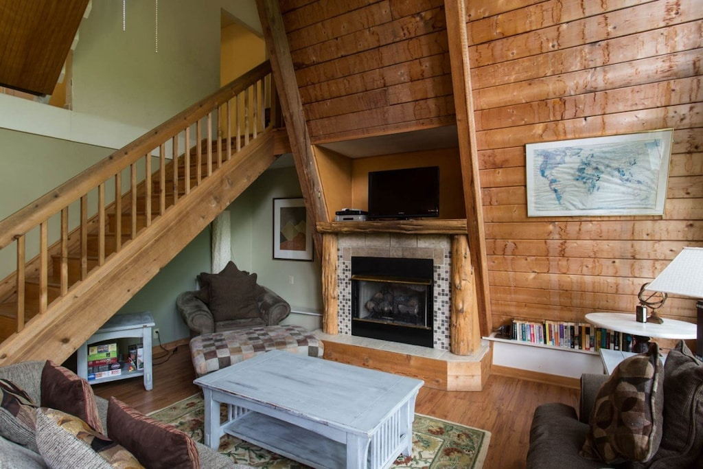 Head up the stairs for the second floor, third floor, and crow`s nest bedrooms.