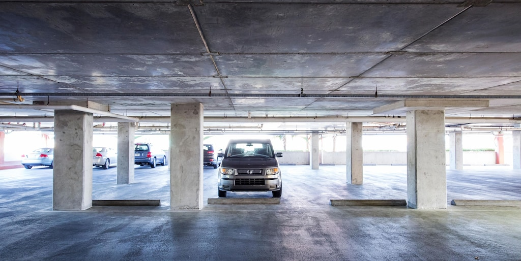 2 levels of covered parking keeps you cool even in the heat.