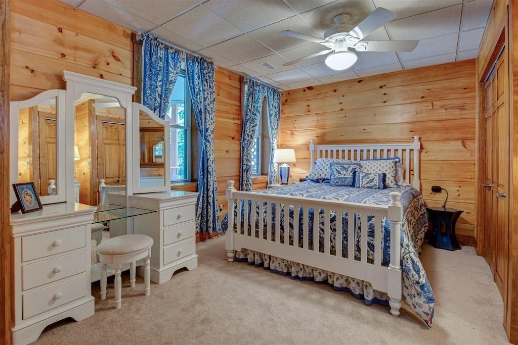 Lower level super comfy bedroom