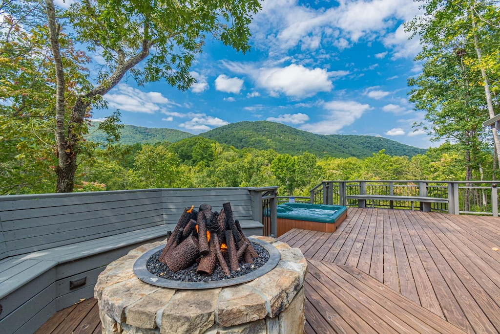 Gas Fire Pit with a GREAT View