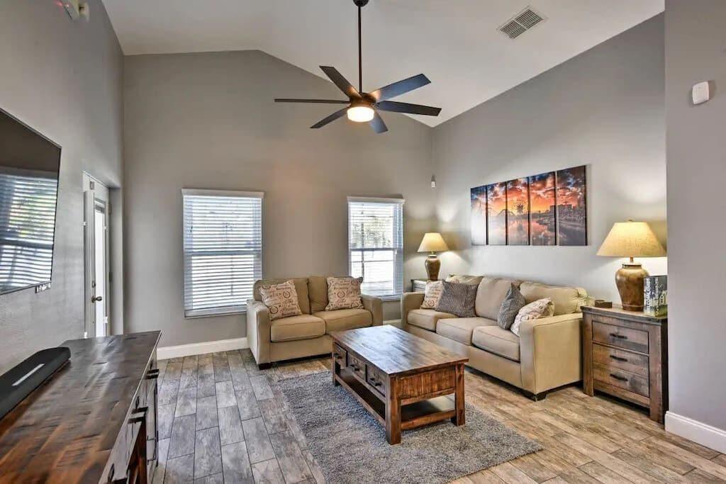 Luxury Lounge with large Smart TV