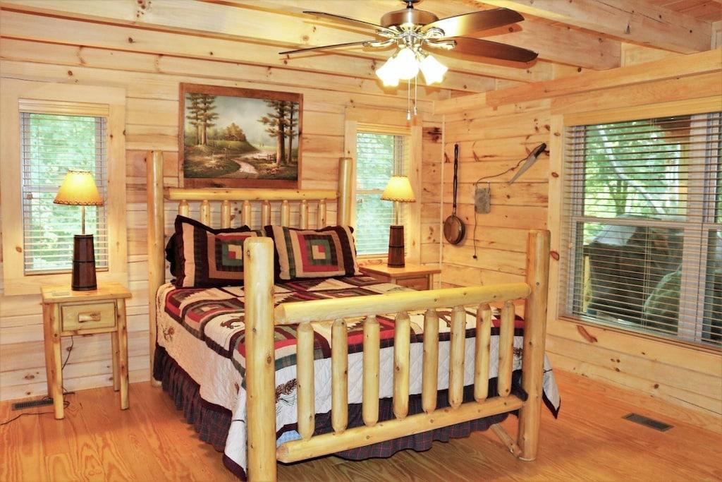 Main level master bedroom with full bath