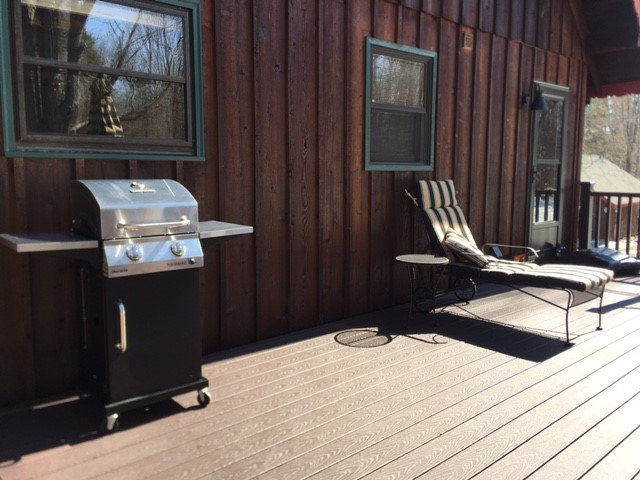Gas BBQ ready for grilling!
