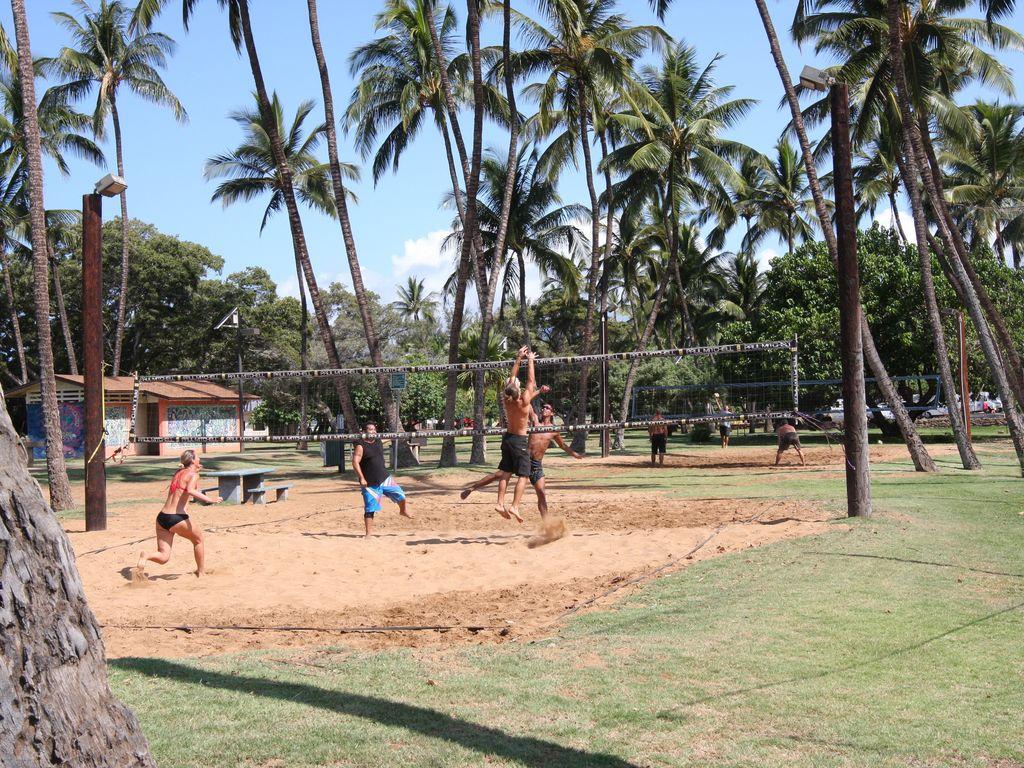 Play a game of volleyball at Kalama Beach Park