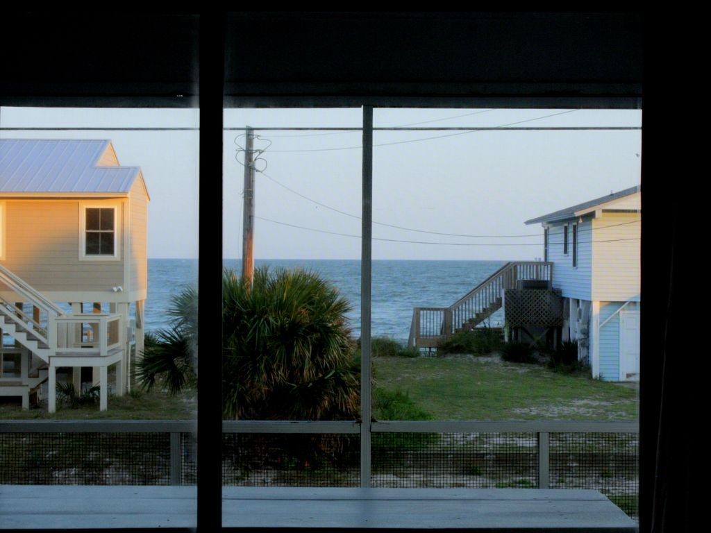 Oceanview from the living area!