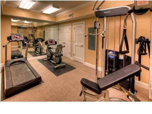 There's a fitness room so your exercise routine won't miss a beat.
