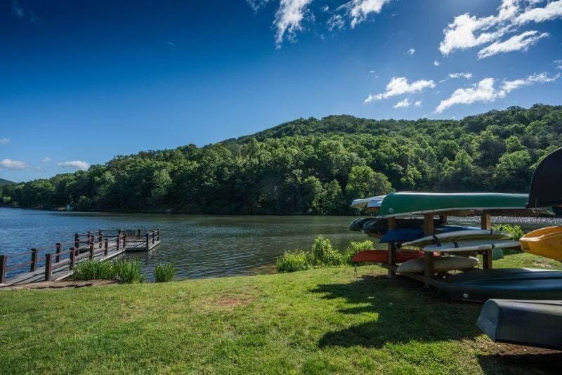 Kayak, canoe, or paddle around this picturesque area