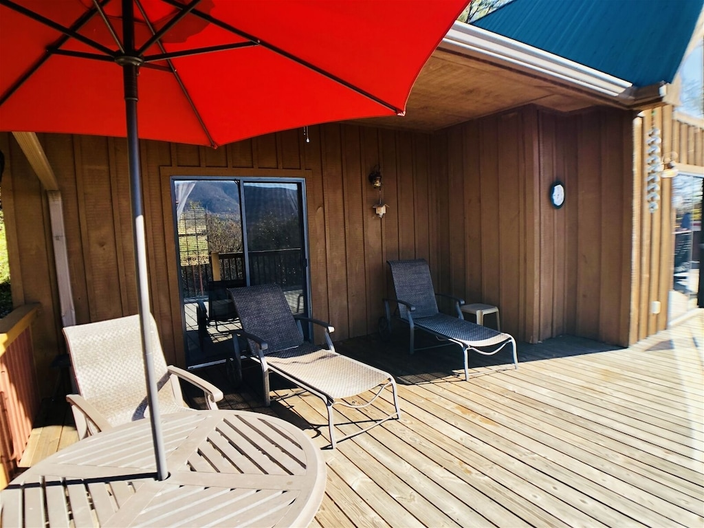 Upstairs Outdoor Deck of Master